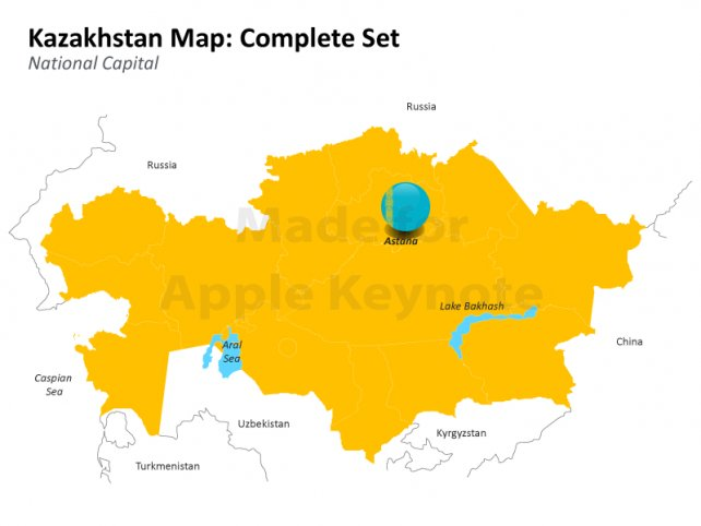 Kazakhstan Map - Complete Set