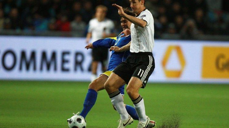 Miroslav Klose (front) of