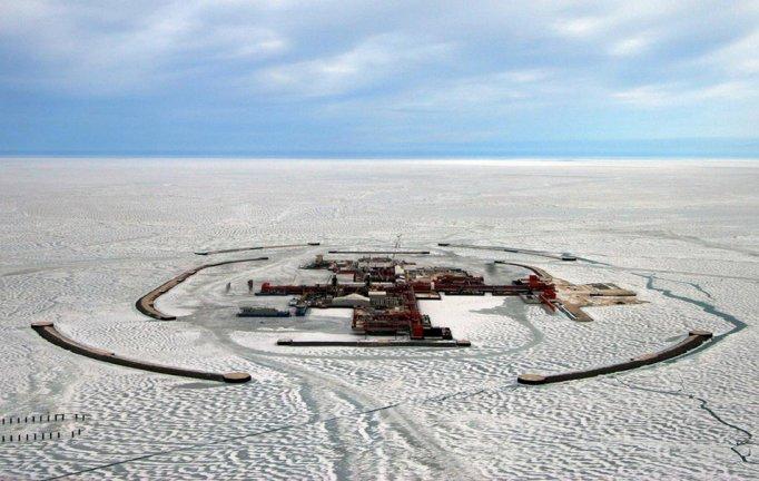 Kashagan Artificial Island in