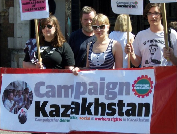 Campaign Kazakhstan protest in