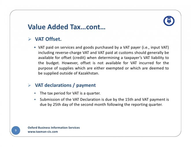 Value Added Tax…cont…