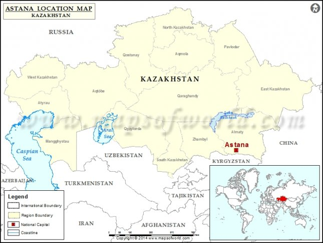 Where is Astana | Location of