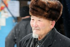 A Kazakh man with the traditional Bashlyk