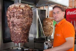 An Almaty doner vendor
