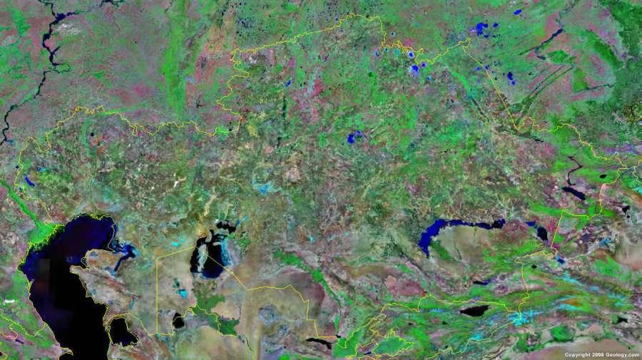 Political map of kazakhstan kazakhstan business kazakhstan satellite photo sciox Choice Image