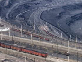 Kazakhstan coal industry scenery
