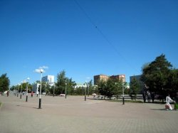 Kostanay city street view