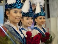 Some native girls of Kazakhstan in traditional costumes ( Image: nasa-hq )