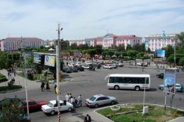 Taraz city central part view