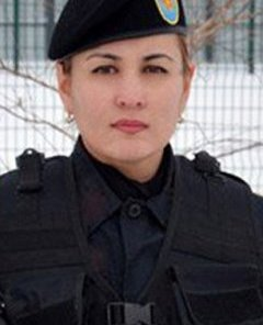 The competition, which saw Aigerim Karakuchukova (pictured) finish in the top 12, was staged to encourage more people to join the army, which only has around 120 women