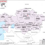 Political Map of Kazakhstan Kazakhstan business