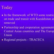 Trade restrictions in Kazakhstan