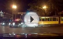 Driverless Tram Crash in Almaty Kazakhstan Dashcam Video
