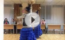 Kazakh girls are dancing in Almaty Kazakhstan KazNMU khosti215