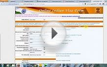 Online Indian Visa Application Form