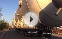 Sarens Kazakhstan moving Heavy OOG cargo through Atyrau